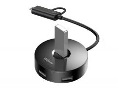 هاب یو اس بی و تایپ سی بیسوس Baseus Round Box Hub USB Adapter Type-C+USB