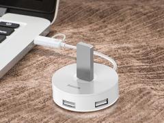 هاب یو اس بی بیسوس Baseus Round Box Hub USB Adapter