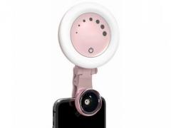 لنز واید و ماکرو فلاش دار گوشی Krisyo Beauty led flash light & lens M-608