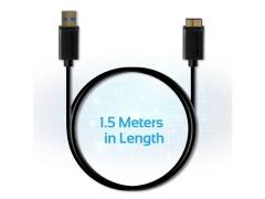 کابل هارددیسک پرومیت Promate LinkMate-U4 Type-A To Micro-B USB 3.0 Cable 1.5m