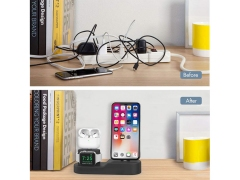 استند شارژ آیفون و ایرپاد و اپل واچ AHA Style 3in1 Charging Dock