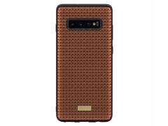 قاب طرح چرم کجسا سامسونگ Kajsa Geniune Leather Grass Pattern Case S10 Plus