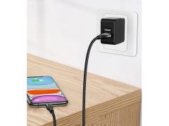 کابل شارژ و انتقال داده دوسر بیسوس Baseus 2in1  Dual Output Cable USB+Type-C to iP 18W