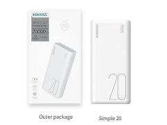 پاور بانک روموس Romoss Simple 20 PSL20 Power Bank 20000mAh