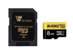 رم میکرو اسدی 8 گیگابایت W-KING 8GB Extra 533xPlus 80MB/s Class 10
