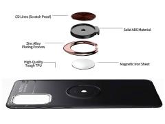 قاب ژله ای حلقه دار سامسونگ Becation Finger Ring Case Samsung Galaxy S20 Plus