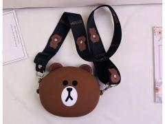 کیف سیلیکونی کوچک رودوشی طرح خرس Bear Little Bag