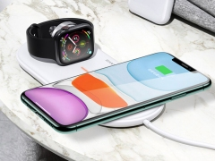 شارژ وایرلس اپل واچ و آیفون یوسامز Usams US-CD119 2in1 Wireless Charger