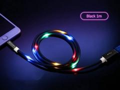 کابل میکرو یو اس بی رقص نور باوین Bavin CB-139 Led Micro USB Cable 1m
