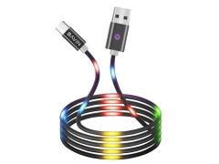 کابل تایپ سی رقص نور باوین Bavin CB-139 Led Type-C Cable 1m