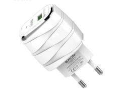 شارژر دیواری سریع و کابل میکرو یو اس بی باوین Bavin PC527Y Micro USB Charger