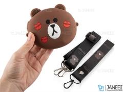کیف سیلیکونی کوچک رودوشی طرح خرس عاشق Love Bear Little Bag