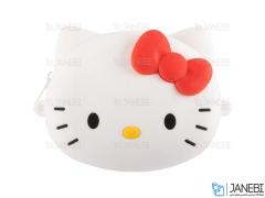 کیف سیلیکونی کوچک رودوشی طرح کیتی Kitty Little Bag