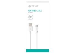 کابل شارژ و انتقال داده تایپ سی دویا Devia Kintone EC051 Type-C Cable 1m