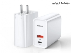 آداپتور سریع دو پورت 30 وات بیسوس Baseus Speed PPS BS-EU905/BS-CH905 Quick Charger USB+Type-C
