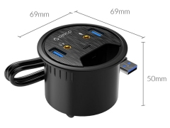 هاب یو اس بی رومیزی اوریکو Orico Desktop Power Grommet Hub DESK-2U1C 1M Cable