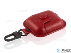 کاور محافظ چرمی ایرپاد اپل Coteetci Magnet Airpods PUCase With Hook