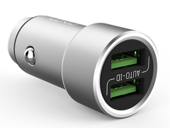 شارژر فندکی دو پورت الدنیو با کابل میکرو یو اس بی LDNIO C401 Micro USB Car Charger