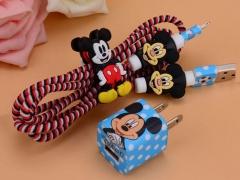 پک کیف و محافظ کابل شارژ آیفون میکی موس Cover Charger Protector Mickey Mouse