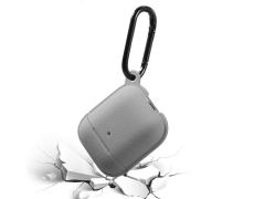 کاور سیلیکونی طرح چرم ایرپاد Airpods 1/2 Leather Silicone Hang Case