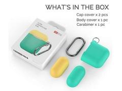 کاور سیلیکونی دو درب قلاب دار ایرپاد AHAStyle Ultra Airpods Case