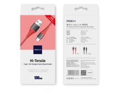 کابل شارژ و انتقال داده تایپ سی راک Rock Hi-Tensile Type-C Cable 1m