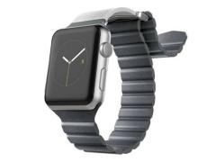 بند سیلیکونی طرح چرم اپل واچ ایکس دوریا X-Doria Leather Silicone Wirstband Apple Watch 38mm