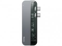 هاب آداپتور چندکاره بیسوس مخصوص مک بوک دارای خروجی USB 3.0