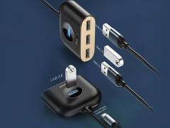 هاب آداپتور یو اس بی بیسوس Baseus Square round 4 in 1 USB HUB Adapter