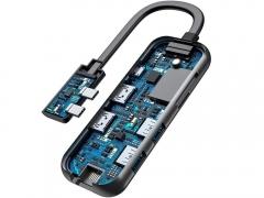 هاب آداپتور چندکاره مک بوک بیسوس Baseus Type-C Multifunctional Hub Adapter