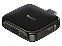 هاب یو اس بی بیسوس مدل Baseus Fully folded portable 4-in-1 HUB (USB2.0 to USB2.0x4 with power supply) Black