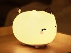 چراغ خواب عروسکی بیسوس طرح گربه Baseus Cute kitty Silicone Night Light
