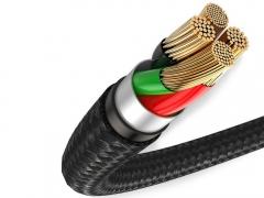 کابل شارژ و انتقال داده لایتنینگ بیسوس Baseus Halo Lightning Cable 0.5M