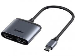 هاب تبدیل تایپ سی به اچ دی ام آی بیسوس Baseus Enjoy USB-C Hub USB-C to HDMI x2   PD