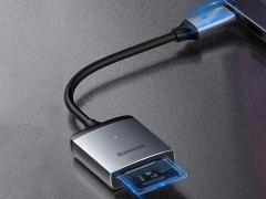 هاب آداپتور تایپ سی به کارتخوان بیسوس مدل BASEUS Enjoy Series Type-C to SD/TF Card Reader Hub Adapter دارای دو ورودی کارت اس دی و میکرو اس دی