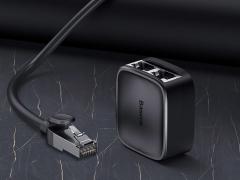 مبدل 1 به 2 پورت شبکه بیسوس Baseus High Speed 1 To 2 Network Splitter Adapter دارای کیفیت ساخت بالا