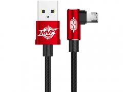 کابل شارژ یک متری میکرو یو اس بی دو جهته مناسب گیمینگ بیسوس Baseus MVP Elbow Type Cable Double Side micro USB 1M