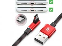 کابل شارژ میکرو یو اس بی دو جهته بیسوس Baseus MVP Elbow micro USB Cable 1M