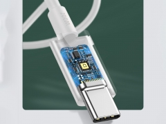 کابل شارژ سریع 1.5 متری تایپ سی بیسوس Baseus Xiaobai Series Fast Charging Cable 1.5M Type-C 100W دارای میکرو چیپ کنترل جریان