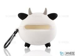 کاور محافظ سیلیکونی ایرپادپرو طرح گاو Cow Silicone Case Apple Airpods Pro