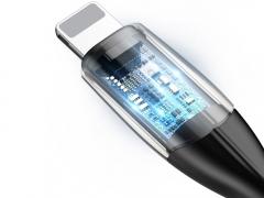 کابل شارژ و انتقال داده لایتنینگ بیسوس Baseus Horizontal Lightning Data Cable 50cm