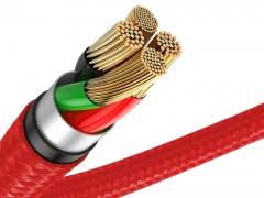 کابل شارژ و انتقال دیتای نیم متری لایتنینگ بیسوس Baseus Horizontal Data Cable Lightning 50cm دارای رشته های مسی باکیفیت