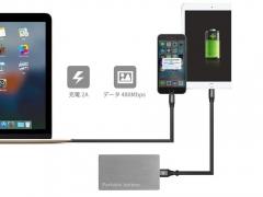 کابل شارژ دو سر میکرو یو اس بی و لایتنینگ بیسوس Baseus 2in1 Portable Cable 1.2M