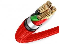 کابل شارژ و انتقال دیتای 25 سانتی متری میکرو یو اس بی بیسوس Baseus halo data cable USB For MicroUSB 0.25M دارای هسته های مسی باکیفیت