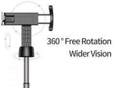 مونوپاد بلوتوثی سه پایه دار راک Rock RST1052 Bluetooth Remote Selfie Stick