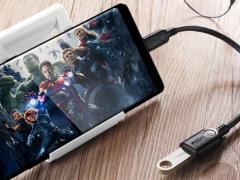 مبدل تایپ سی به یو اس بی 3.0 11 سانتی متری راک ROCK Type-C to USB 3.0 Adapter قابلیت اجرای فلش درایو ها در موبایل