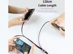 کابل شارژ سه سر راک Rock M8 3in1 Charging Cable 1.2M