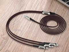 کابل شارژ و انتقال داده 1.2متری 3 در 1 راک ROCK M8 Zn-alloy 3 in 1 Charging Cable 1.2M دارای طراحی زیبا