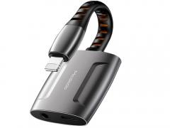 مبدل لایتنینگ به لایتنینگ و خروجی 3.5 میلیمتری صدا مک دودو MCDODO Lightning to Lightning and 3.5mm Cable 0.1M CH-634