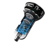 شارژر فندکی سریع دو پورت با کابل بیسوس Baseus Digital Display PPS Quick Car Charger